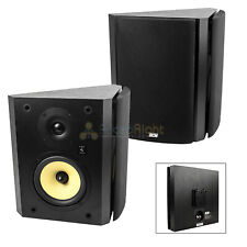 "6.5"" Bookshelf Wall Mount Home Theater Speakers DCM TP160BDP-B Black Pair"