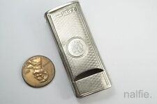 ANTIQUE ENGLISH VICTORIAN SILVER WHISTLE & VESTA CASE / MATCH SAFE c1889