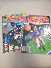 NFL SuperPro # 1 & Special Edition NFL Football Comics Vintage Marvel 1991 FN/VF