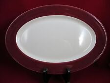 """Caribe China Restaurant Ware large Serving Platter 13 3/4""""   Maroon/Red  VNC"""