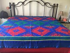 Vintage Beacon Blanket South Western Wool/Cotton Blanket 85 X 82