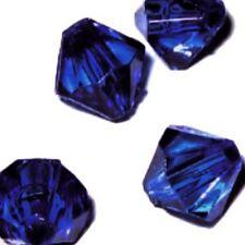 25g - 6mm blu cobalto Acrilico Perline Sfaccettato Bicono in plastica-a5326