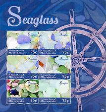 Micronesia 2014 MNH Seaglass 6v M/S Marine Sea Glass Stamps