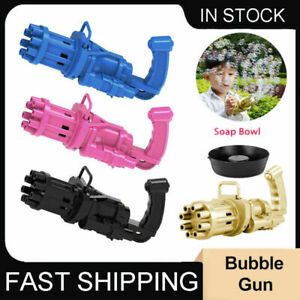 Gatling Bubble Gun Zapper Blower Fun Bubble Machine Kids Outdoor Garden Toy Gift