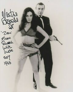 Martine Beswick photo signed in person - James Bond - WITH EXTRA DETAIL!  - K522