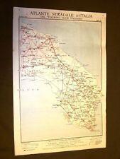 Carta geografica o mappa Brindisi Lecce Manduria Touring Club Italiano 1922
