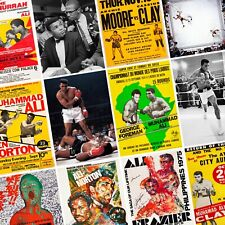 MUHAMMAD ALI Classic Fight Posters - Cassius Clay Boxing Wall Art Print Thrilla