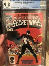 Marvel Super Heroes Secret Wars 8 Cgc 9.8 White Pages First Appearance Symbiote