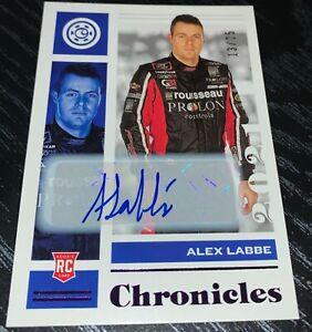 2021 Panini Chronicles Racing Nascar ALEX LABBE Auto Rookie Purple # 13/25
