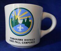Vintage Tomahawk District 1983 Fall Camporee B.S.A Coffee Mug Cup