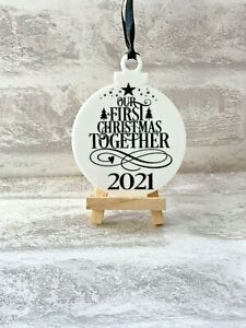 Our 1st Christmas Together 2021 Christmas Acrylic Hanging Bauble