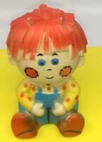 Vintage 1960s Squeak Toy  Raggedy Andy  Boy Doll Rubber Vinyl