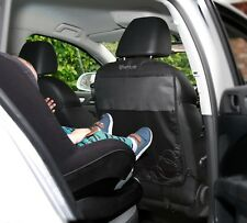 Car Seat Protector High Quality Kick Mats, 3 Organiser Pockets, 2 Pack-Black