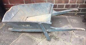 Vintage Wood Wheel Barrow Edwardian Childs Original repair project