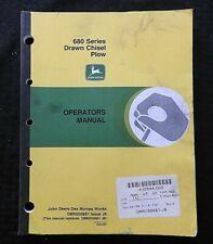 Genuine John Deere 680 Series Drawn Chisel Plow Operators Manual Very Good Shape