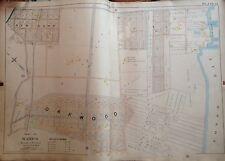 1898 Original Staten Island Oakwood Beach New Dorp E. Robinnson Atlas Map 22X32