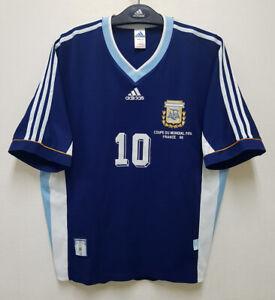 1998 ARGENTINA Away S/S No.10 ORTEGA 98 France WorldCup 98-99 AFA