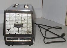 Vintage General Electric 2 Slice Chrome Mid Century Modern Toaster Model Estate