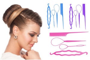 4pcs Hair Styling Updo Set Bun Maker Clip Comb Ponytail Hair Twist Accessories