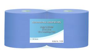 2x Putztuchrollen blau 2-lagig 500 Blatt/Rolle Putzpapier Putztücher 22x36cm