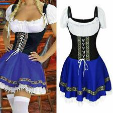 Ladies Oktoberfest Fancy Dress Heidi German Beer Maid Costume OCTOBERFEST