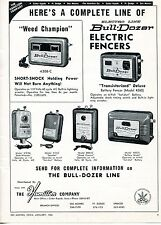 1963 Dealer Print Ad of The Hamilton Co Electro Line Bull-Dozer Electric Fencers
