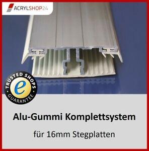Verlegesystem Verlegeprofil Doppelstegplatten Stegplatten Hohlkammerplatten 16mm