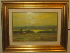 Original Gene Magazzini 'Wheat field at Sunset' Italy Landscape Oil Painting