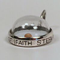 Sterling Silver MUSTARD SEED Charm for Bracelet PENDANT Amulet of Faith NEW Old