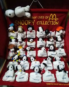 Vintage Many Lives of Snoopy Peanuts McDonald's 2001 Pre-owned Complete Set