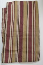"Single Curtain Panel 40"" x 84"" Slide on Rod Brown Red Stripes"