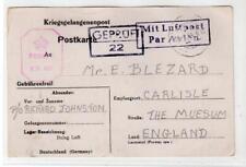 GERMANY: 1944 Censored Kriegsgefangenenpost postcard to England (C48603)