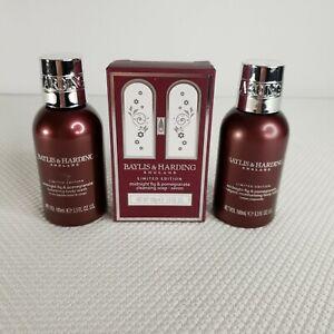 Baylis & Harding Set Midnight Fig Pomegranate Soap Body Wash Lotion Travel Sizes