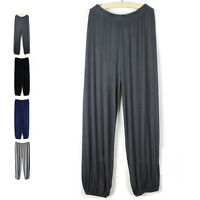 Mens Aladdin Pants Yoga Trousers Casual Sportwear Loose Baggy Hippie Boho Slacks