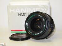 Olympus OM Weitwinkel 2,8/28mm Hanimex High Multi Coated (49mm) Wide Angel lens