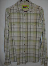 Western Shirt Cowboy LT Mens TALL Pearl Snaps Brooklyn Ind. White Plaid 7W5
