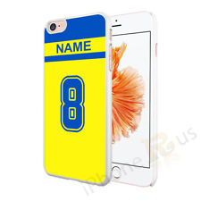 Yellow Blue Football Shirt Case Cover Personalised Any Name And Number OD1