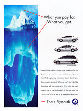 1998 Plymouth Neon Breze Voyager - Original Car Advertisement Print Ad J177