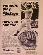 1972 Pete Rose Cincinnati Reds MacGregor MLB Baseball Gloves Sports Promo AD