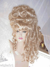 SIN CITY WIGS BLONDE CURLY BIG UP DO VICTORIAN CURLS BANGS ANTOINETTE GLAMOUR!