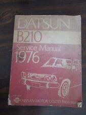 Datsun B210 Service Manual 1976 Nissan Motor Co. Official  Publication