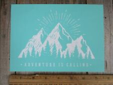 Chalk Couture style ADVENTURE IS CALLING MOUNTAINS  stencil transfer NEW