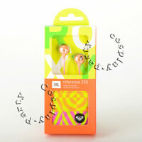 ROXY by JBL Reference 230 In-Ear Buds Earbud Headset Headphone Orange/Pink