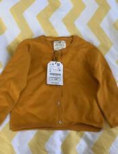 Zara Girls Cardigan/sweater 3-4 Yrs Musturd Color