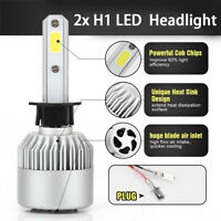 H1 LED Headlight Bulb All-in-One Conversion Kit 6000K White IP68  Waterproof 2PC