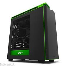 NZXT H440 BLACK GREEN 2015 EDITION ATX GAMING USB 3 PC CASE - SIDE WINDOW & FANS