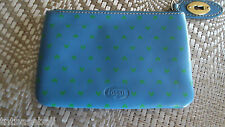 Fossil Cosmetic bag/pouch Austin Blue Print So Nice!! New With Tags! MSRP $50.