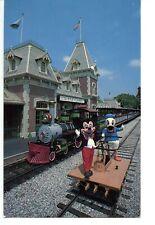 New listing Train Station-Mickey Mouse & Donald-Disneyland Amusement Park-Vintage Postcard