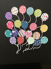 Patterned Cardstock Balloon Diecuts, Decorations, Scrapbooking, Cards, Birthdays