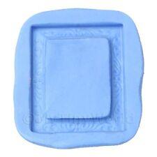 Miniatura Para Casa De Muñecas reutilizable Rectangular Marco Molde de silicona